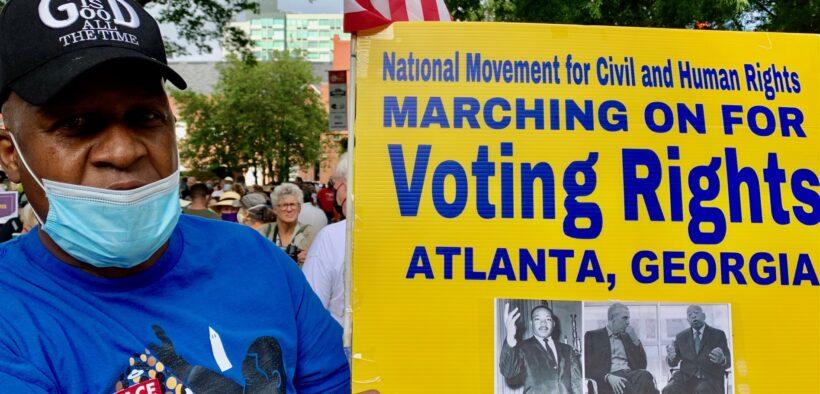 Voting Rights rally Auburn Avenue Atlanta August 2021