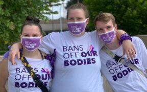 Rally for Reproductive Justice Liberty Plaza Atlanta October 2, 2021
