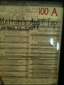 Photo of restaurant inspection for Melton's.