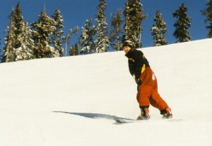 Gary Edwards skiing
