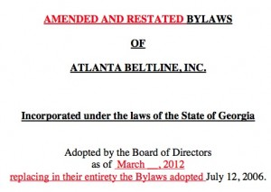Amended bylaws