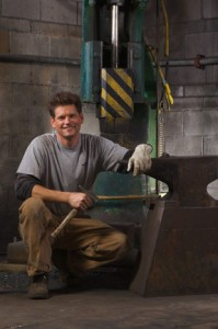 Blacksmith and metal sculptor Andrew T. Crawford