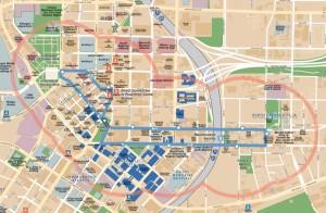 The route of the Atlanta Streetcar through Downtown Atlanta. Credit: Atlanta Streetcar.