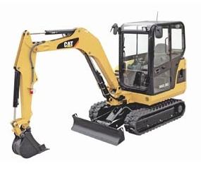 Caterpillar mini hydraulic excavator