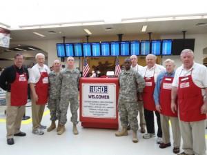 Vietnam veterans serving troops in Atlanta airport