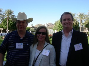 Terry Lawler of Regional Business Coalition, Stacy Patton of Minerva USA and Steve Cover of HOK at the Arizona Biltmore