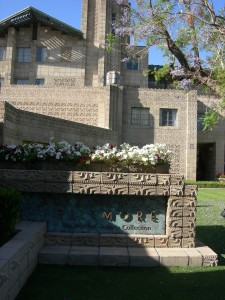 The front of the historic Arizona Biltmore, inspired by architect Frank Lloyd Wright