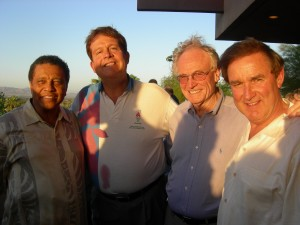 Clayton's Eldrin Bell, developer Emory Morsberger, Gwinnett's Charles Bannister and  Bill Russell, owner of a landscape company