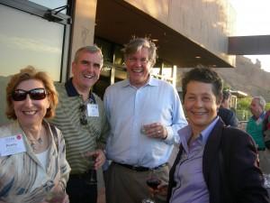 Blank Foundation's Penny McPhee, Metro Atlanta Chamber's Sam Williams, ARC Chairman Tad Leithead and Atlanta's Luz Borrero chat at LINK reception
