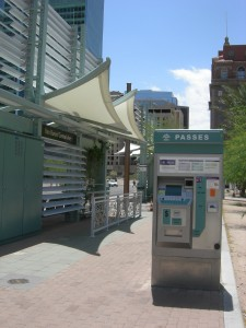 The Central Station of the Phoenix light rail system, steps away from ASU campus