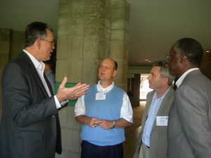Southface's Dennis Creech shares his thoughts on solar power and renewables with Georgia Power's Lenn Chandler, Gas South's Kevin Greiner and Georgia Power's Richard Holmes during recent LINK trip