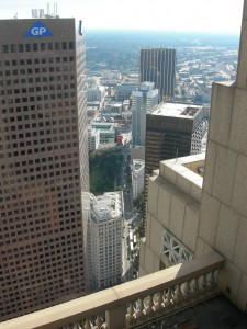 The view from 191 Peachtree looking south. Photos by Maria Saporta