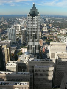 Looking north from the roof of 191 Peachtree