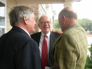The three investors in Purpose Built Communities — Tom Cousins, Warren Buffett and Julian Robertson (Photos by Maria Saporta)