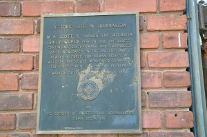 Historic marker at The Atlanta Daily World