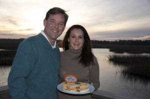 Brian and Sassy Henry and Palmetto Cheese on Pawleys Island