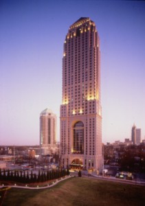 Rendering of what is now the Four Seasons before it was surrounded by other high-rise towers. Courtesy of Joe Rabun.