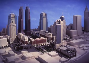 Rendering of proposed GLG Park Plaza Plaza development with the Atlanta Biltmore in the foreground. Courtesy of Joe Rabun.