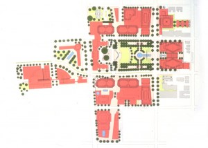 Master plan for GLG Park Plaza. Courtesy of Joe Rabun.