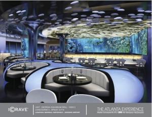 The Georgia Aquarium is a restaurant concept proposed for Atlanta's airport. Credit: OTG