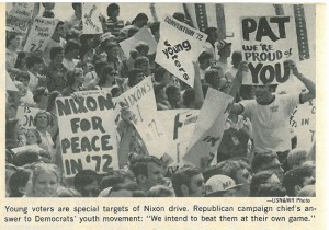 Bob Gibeling with Young Republicans in 1972