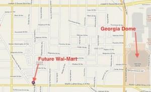 Historic Westside Village, Wal-Mart, March 2012