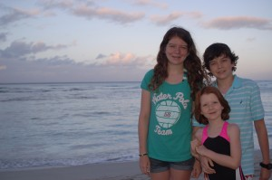 Natalie, Peter and Allison Tilly in Hawaii.