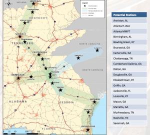 High Speed Rail - map