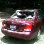 Bashed in car on Appalachian Trail
