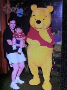 Rochelle Bozman, son and Winnie the Pooh