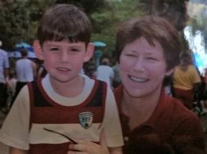 Rochelle Bozman and son.