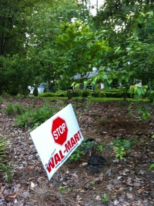 Yard sign against Wal-Mart in Decatur.