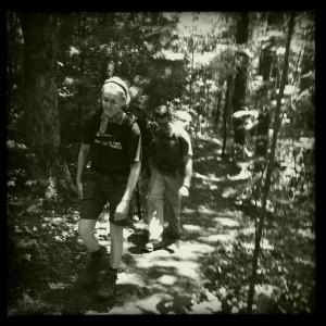 Hikers on the Appalachian Trail