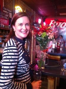 """Atlanta native Katharine Wilkinson, author of """"Between God & Green,"""" at a Manuel's Tavern book signing."""