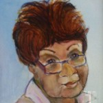 Frances Duncan portrait hung in the dining room at the Sea View Inn.