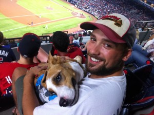 Photo of Mark Husack and his dog Mischa.