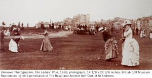"""A 1886 photograph of female golfers in the High Museum's """"The Art of Golf"""""""
