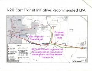 MARTA's proposed service in Dekalb County. Credit: MARTA, David Pendered