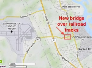 New bridge at Ga. 307 near Savannah port