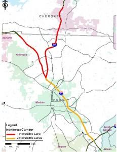 Northwest Corridor, GDOT plan