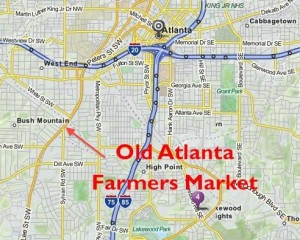 Old Atlanta Farmers Market, map