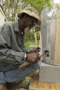 "Gregory Warnack, a.k.a. ""Mr Imagination,"" works at his home in northwest Atlanta"