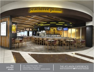 Peachtree Prime is a restaurant concept proposed for Atlanta's airport. Credit: OTG