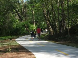 Pedestrians could amble along the Buckhead trail.