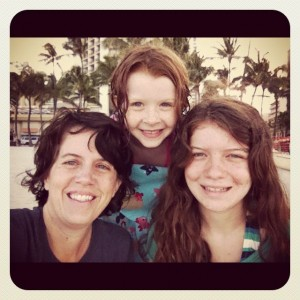 Melissa Tilly with her daughters Allison, 8, and Natalie, 15.