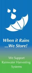 Rainwater harvesting banner