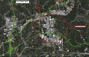 Stone Mountain CID boundaries as they appear in LCI application