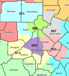 T-SPLOST by congressional district