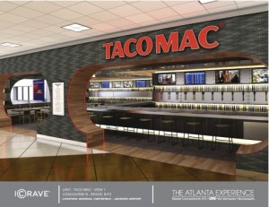 Taco Mac is a restaurant concept proposed for Atlanta's airport. Credit: OTG