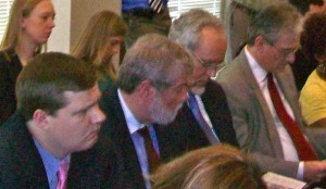 The team that oversees the public education and campaign for the 2012 sales tax referendum includes (left to right) Paul Bennecke, principal of Marietta-based Red Clay Strategies; Earl Bender, president of Alexandria, Va. -based Totten Communications; David Hill, of Auburn-based Hill Research Consultants; and Glenn Totten, of Totten Communications.